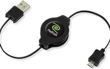 RETRAK computer USB typ A-microUSB černý, 1m