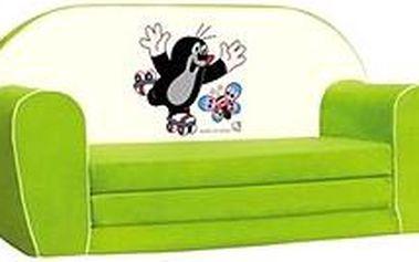 Mini-pohovka zelená - Krteček