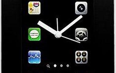 Nástěnné hodiny Smartphone černé