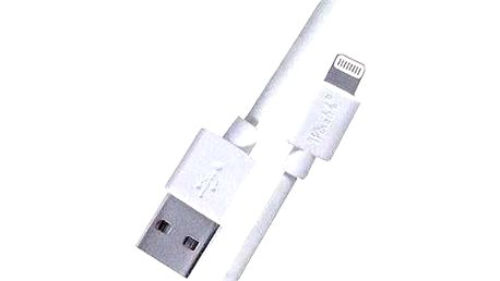 PremiumCord Lightning IP5 2m bílý
