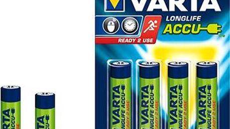 VARTA Longlife Accu, AAA tužkové NiMH 800mAh, 4 ks