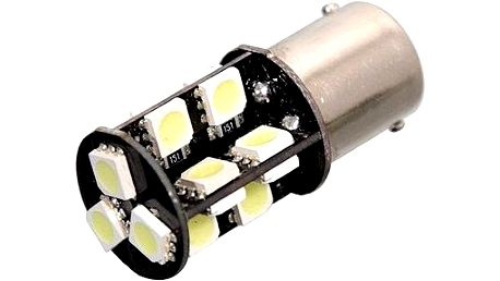 Compass Žárovka 19 SMD LED 12V Ba15S s rezistorem CAN-BUS ready bílá