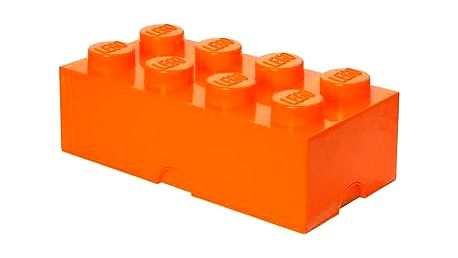 LEGO Úložný box 8 250 x 500 x 180 mm - oranžový