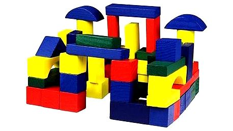 Dřevěné kostky 75 ks