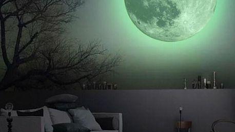 Fluorescenční samolepka na zeď - Měsíc - dodání do 2 dnů