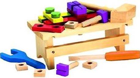 Dřevěný pracovní stolek s příslušenstvím