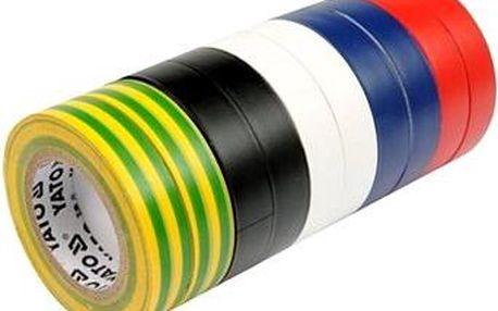 YATO Páska izolační 19 x 0,13 mm x 20 m barevná 10 ks