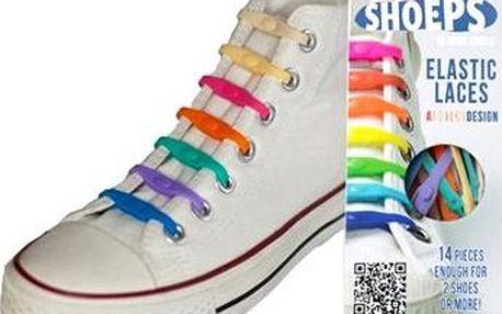 Shoeps - Silikonové tkaničky mix 2015