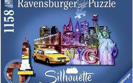Tvarové Puzzle - Skyline, New York