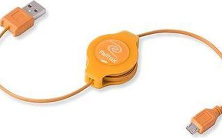RETRAK computer USB typ A-microUSB oranžový, 1m