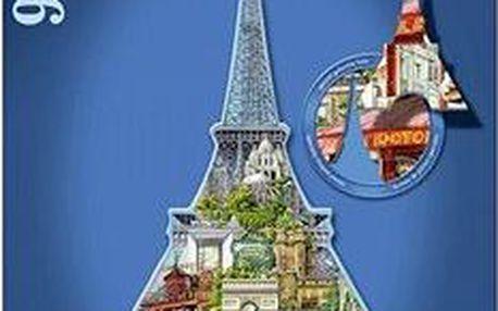 Tvarové Puzzle - Eiffelova věž, Paříž