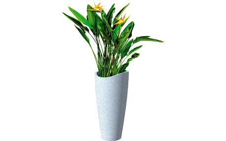 Venkovní květináč Wave 80x39,5 cm, bílý - doprava zdarma!