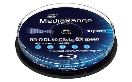 MediaRange BD-R (HTL) 50GB Dual Layer10ks cakebox (MR507)
