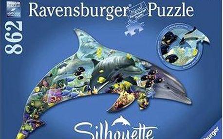 Tvarové Puzzle - Delfín