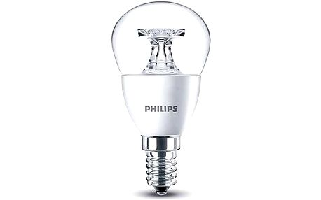 Philips LED Kapka 5,5-40W, E14, 2700K, Čirá