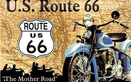 Plechová cedule U.S. Route 66