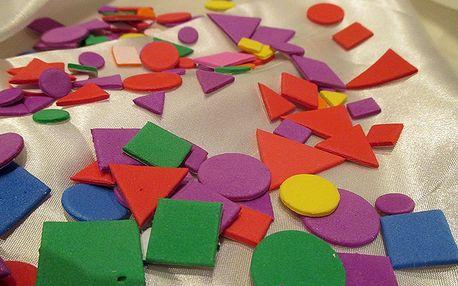 3D dekorace 350 geometrických tvarů 2 x 2 cm