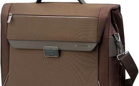"""Samsonite Spectrolite Briefcase 2 Gussets 16"""" hnědá"""
