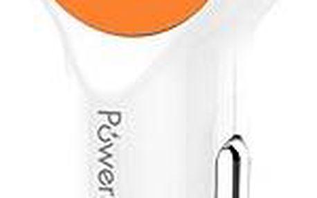 Powerseed Drum Car Carger bílo-oranžový