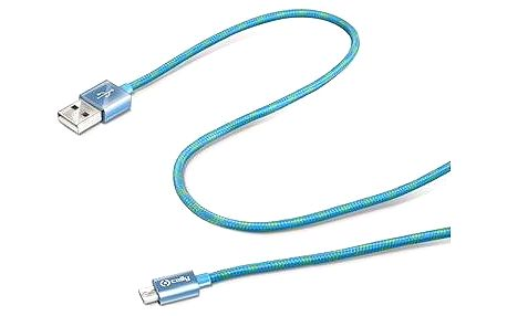 CELLY propojovací USB A(M) - micro B(M) 1m modrý