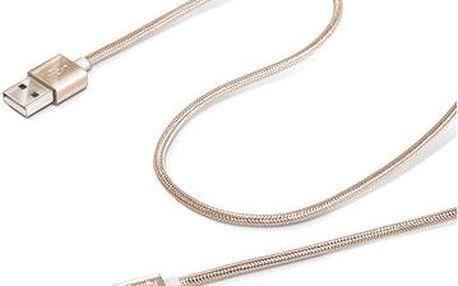 CELLY propojovací USB A(M) - micro B(M) 1m zlatý