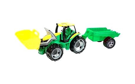 Traktor se lžící a přívěsem