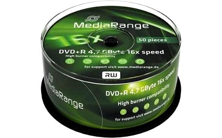 MediaRange DVD+R 50ks cakebox