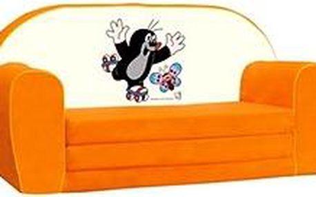 Mini-pohovka oranžová - Krteček