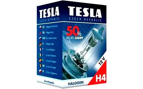 TESLA Žárovka H4, 12V, 60/55 W, P 43 t +50%
