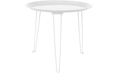 Kovový stolek Tray White