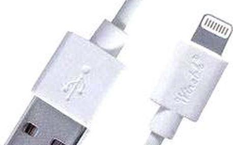 PremiumCord Lightning IP5 0.5m bílý