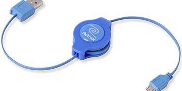 RETRAK computer USB typ A-microUSB modrý, 1m