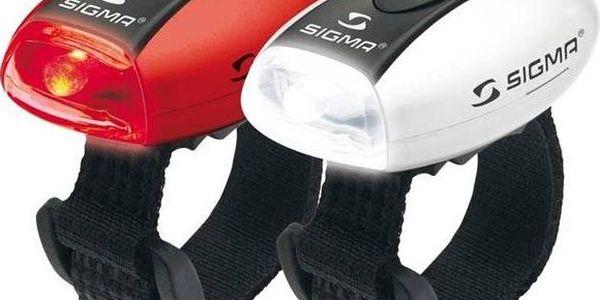 Sigma sada - zadní a přední světlo Sigma MICRO, přední(bílé) a zadní (červené) C3 bílá/červená