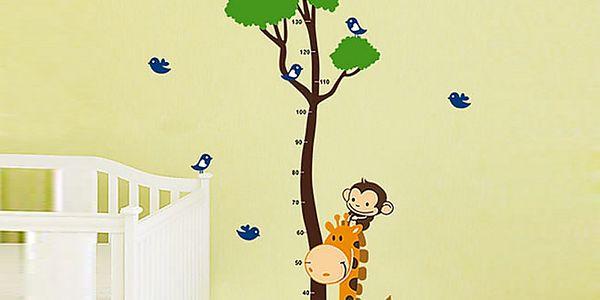 Metr strom a zvířátka 64 x 150 cm