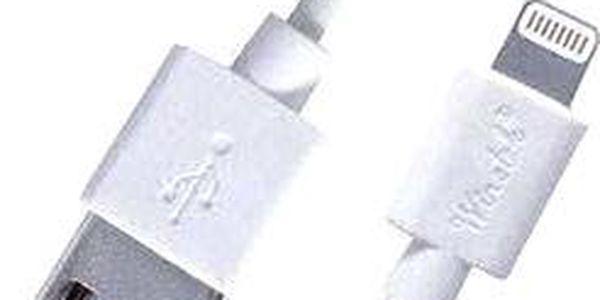 PremiumCord Lightning IP5 1m bílý