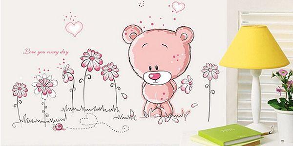 Růžový medvídek 70 x 50 cm