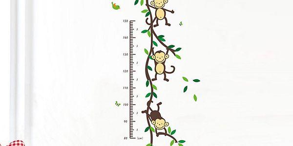 Nalepte.cz Dětský metr opičky 40 x 60 cm