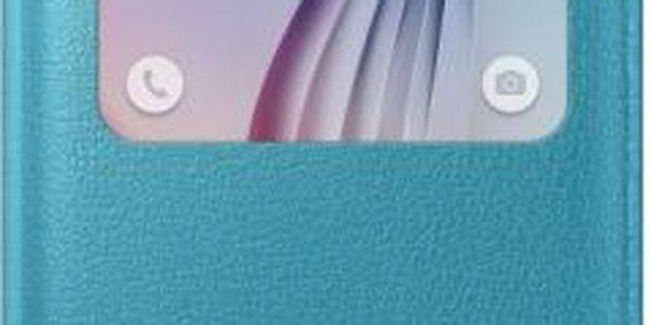Pouzdro na mobil flipové Samsung pro Galaxy S6 (EF-CG920PL) (EF-CG920PLEGWW) tyrkysové