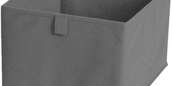 Textilní zásuvka/box Drawer Grey, 30x30 cm