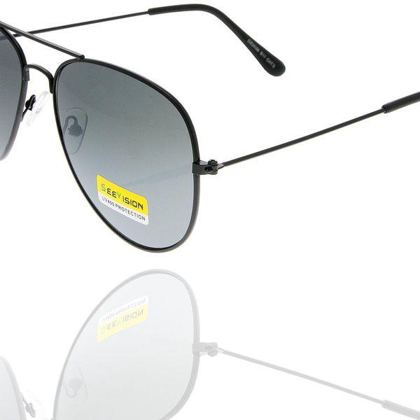 Sluneční brýle pilotky unisex černé