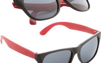 Sluneční brýle v retro stylu - červená - dodání do 2 dnů