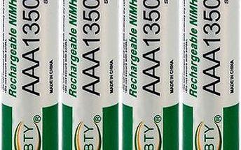 AAA dobíjecí baterie 1350mAh 4ks