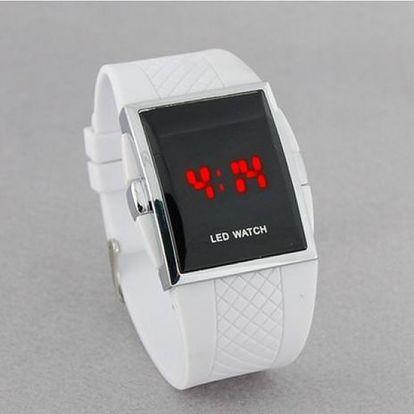 LED hodinky se silikonovým páskem - unisex - dodání do 2 dnů