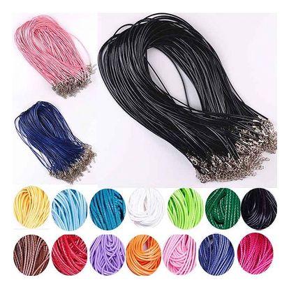 Šňůrky na krk pro výrobu šperků - různé barvy