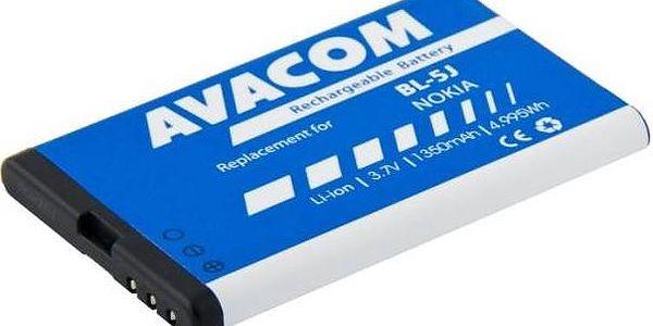 Baterie Avacom pro Nokia 5230, 5800, X6 Li-Ion 3,7V 1350mAh (náhrada BL-5J) (GSNO-BL5J-S1350A)