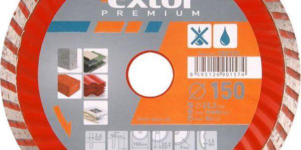 Extol Premium (108752) kotouč diamantový řezný turbo, 125x22,2mm, suché i mokré řezání