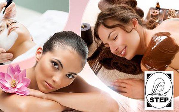 120min. relax balíček - kompletní kosmetické ošetření pleti a čokoládová masáž ve Studiu Step!