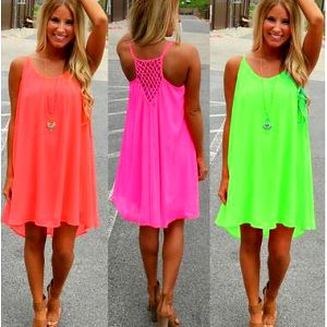 Neonové šatičky ve 4 barvách, S - 3XL