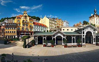 Prázdniny v Karlových Varech 3 dny pro 2 se snídaněmi, večeří, wellness s návštěvou muzea Becherovky