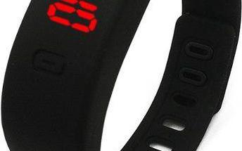Silikonový náramek s digitálními hodinkami - dodání do 2 dnů